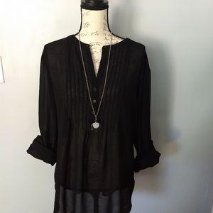 Old Navy Tops - Women's black sheer blouse